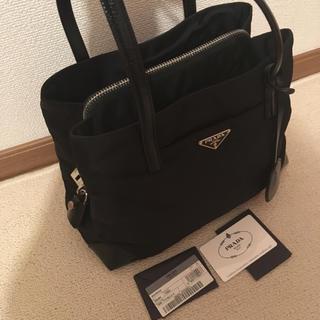 PRADA - 美品 PRADA プラダ トートバッグ  ナイロン レザー ブラック