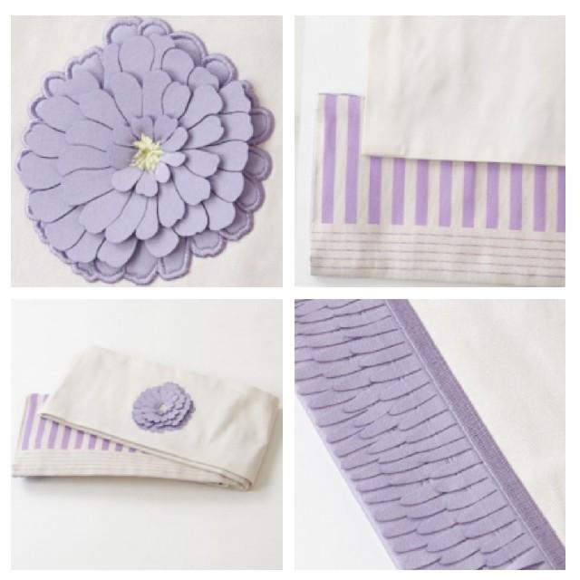 ふりふ(フリフ)のふりふ半幅帯♡百日草ラベンダー レディースの水着/浴衣(帯)の商品写真