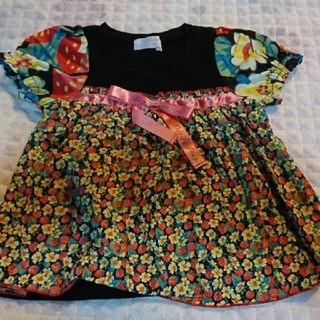 シャーリーテンプル(Shirley Temple)のシャーリーテンプル リバティプリント カットソー 80(Tシャツ)