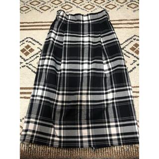 シマムラ(しまむら)の* EASE BULE  チェックスカート *(ひざ丈スカート)