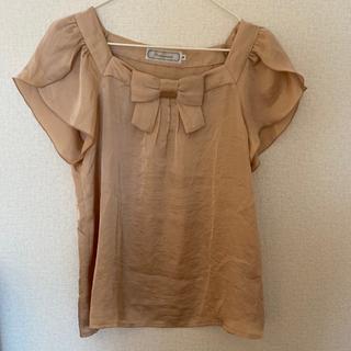 クチュールブローチ(Couture Brooch)のサテン リボンブラウス(シャツ/ブラウス(半袖/袖なし))