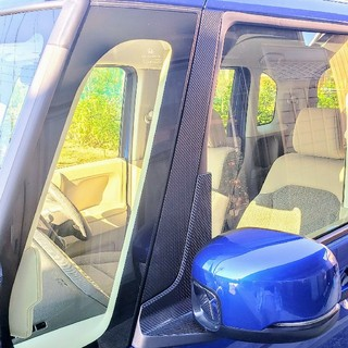 ホンダ(ホンダ)の送料込み!!ホンダN-BOXドアミラーピラーカーボン調ステッカー(車外アクセサリ)