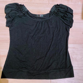 エフデ(ef-de)のエフデ ピーズ付きTシャツ(Tシャツ(半袖/袖なし))
