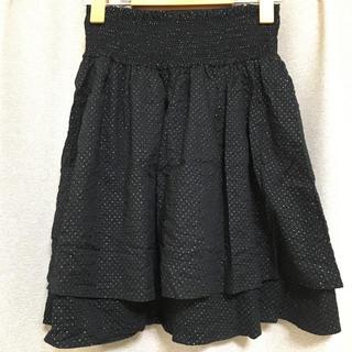 ジルスチュアート(JILLSTUART)のスカート 黒 ドット(ミニスカート)