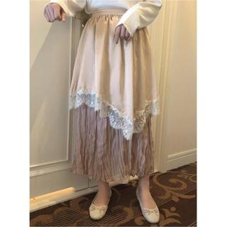 ワンアフターアナザーナイスクラップ(one after another NICE CLAUP)のナイスクラップ  petite frill  skirt ベージュ ペティート(ロングスカート)