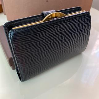 LOUIS VUITTON - 正規品ルイヴィトンエピブラック がま口 折財布