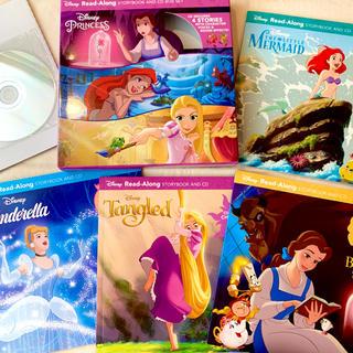 Disney - 新品【海外購入】ディズニープリンセス CD英語絵本セット ラプンツェル アリエル