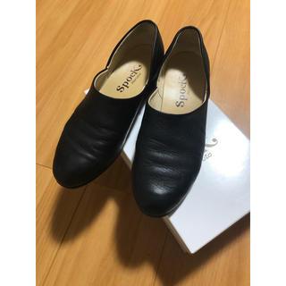 ハルタ(HARUTA)のHARUTA スポックシューズ 24EE 黒スムース(ローファー/革靴)