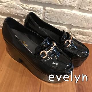 evelyn - ローファー 黒 evelyn  厚底