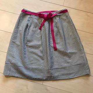 アクアガール(aquagirl)のaquagirl ストライプスカート(ひざ丈スカート)