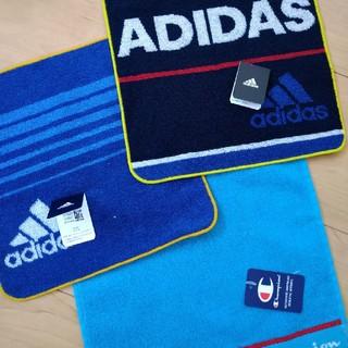 アディダス(adidas)の新品 アディダス champion ハンカチ タオルハンカチ 手洗い 汗(タオル/バス用品)