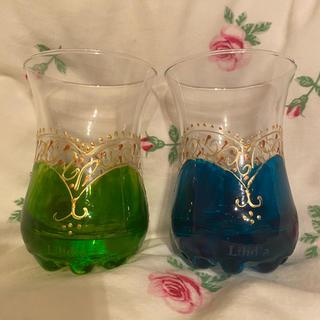 リリディア(Lilidia)のLilidia リリディア モロッコグラス ミントティグラス 非売品 新品(グラス/カップ)