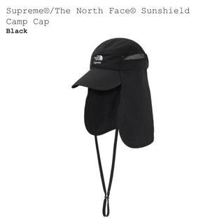 シュプリーム(Supreme)のSupreme North Face Sunshield Camp Cap 黒(キャップ)