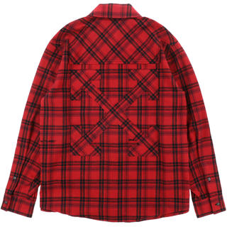 OFF-WHITE - OFF-WHITE   FLANNEL CHECK SHIRT RED WHT