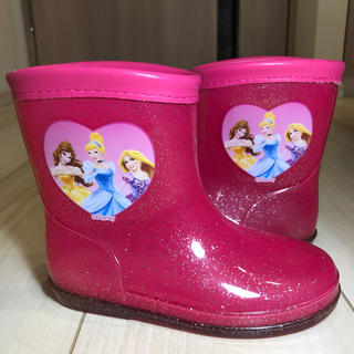 ディズニー(Disney)のディズニー プリンセス 長靴 16cm 美品(長靴/レインシューズ)