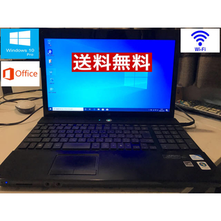 ヒューレットパッカード(HP)のWindows10 ノートパソコン office  WiFi テレワーク(ノートPC)