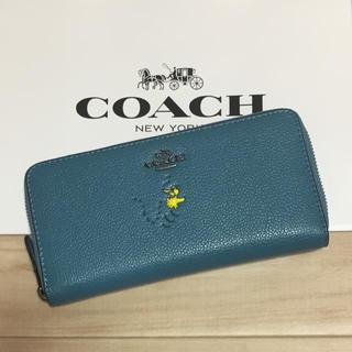 COACH - 新品 [COACH コーチ] 長財布 スヌーピーコラボ  ウッドストック