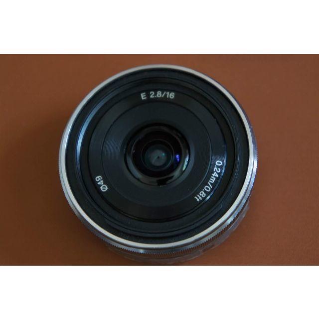SONY(ソニー)のSONY NEXα用 パンケーキ 16mm F2.8 SEL16F28 #498 スマホ/家電/カメラのカメラ(レンズ(単焦点))の商品写真