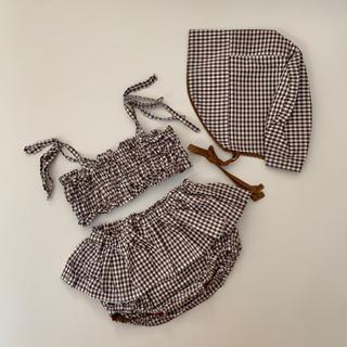 キャラメルベビー&チャイルド(Caramel baby&child )の美品♡ ハンドメイド 水遊び着 90〜100cm(水着)