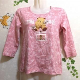 ピンクハウス(PINK HOUSE)のピンクハウス 七分 七分袖 くま クマ Tシャツ トップス カットソー(Tシャツ(長袖/七分))