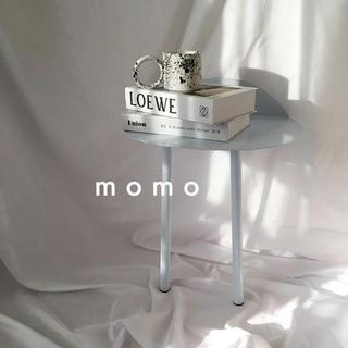 ワンレッグデスク♡サイドテーブル♡モノトーン♡インテリア♡シンプル♡壁面設置♡白(ローテーブル)