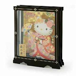 ハローキティ - 舞妓 和服 キティ 日本人形 着物 グリーティングカード 激レア