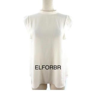 エルフォーブル(ELFORBR)のエルフォーブル ELFORBR ノースリーブ ブラウス シャツ オフホワイト(シャツ/ブラウス(半袖/袖なし))