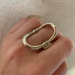 Ameri VINTAGE - シルバー オーバル リング 指輪