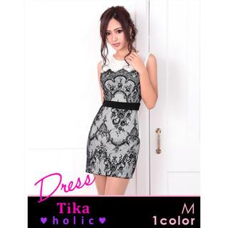 【TIKA】ホワイト キャバ  ドレス (ミニドレス)