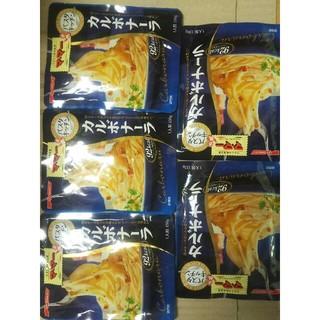 ニッシンセイフン(日清製粉)の期間限定 お値下げ パスタソース  ママー カルボナーラ 5袋(レトルト食品)