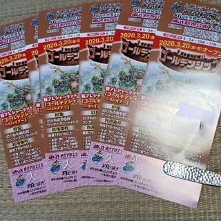 東武動物公園入園券 チケット6枚セット(動物園)