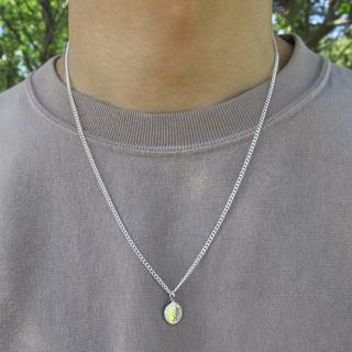コインネックレス シルバー 50cm メンズ レディース ネックレス(ネックレス)