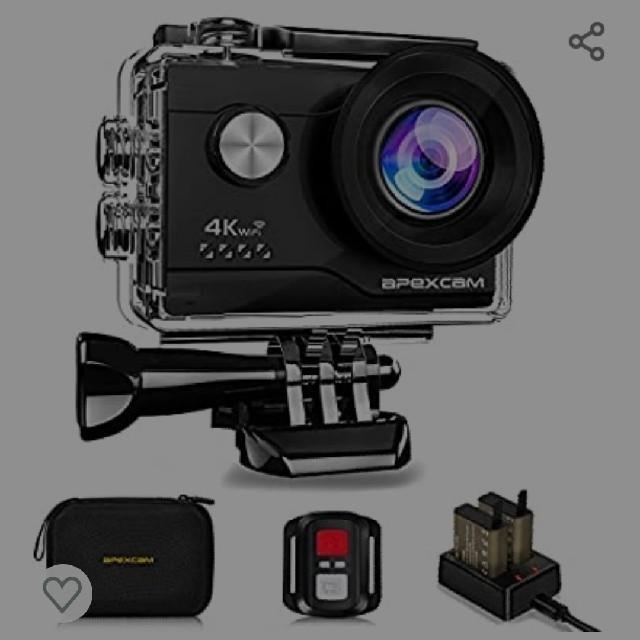 4k対応アクションカメラ スマホ/家電/カメラのカメラ(ビデオカメラ)の商品写真