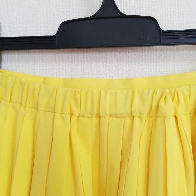 LEPSIM(レプシィム)の春夏 LEPSIM レプシィム 黄色  プリーツスカート ひざ下丈 レディースのスカート(ひざ丈スカート)の商品写真