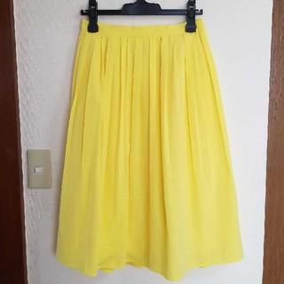 LEPSIM - 春夏 LEPSIM レプシィム 黄色  プリーツスカート ひざ下丈