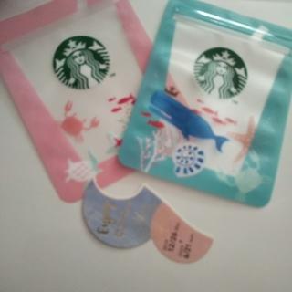 スターバックスコーヒー(Starbucks Coffee)の8月31日までの ドリンクチケット1枚&ジッパーバッグオーシャンアイコン2枚(フード/ドリンク券)