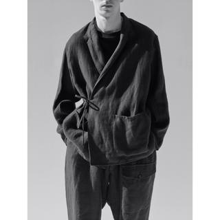 COMOLI - comoli リネン起毛ジャケット ブラック サイズ 1