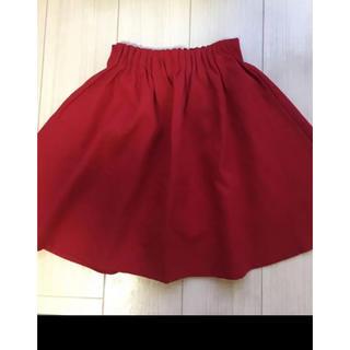 グローバルワーク(GLOBAL WORK)の赤色スカート150㌢(スカート)