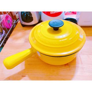 ルクルーゼ(LE CREUSET)の【新品未使用】ルクルーゼ ソースパン 18センチ イエロー(鍋/フライパン)