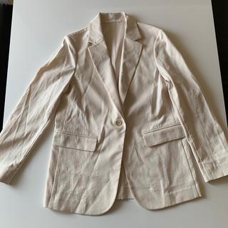 ユニクロ UVカットリラックスジャケット 白 Sサイズ