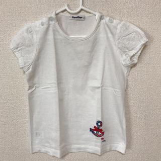 familiar - ファミリア 120 Tシャツ 襟スナップボタン リバティ