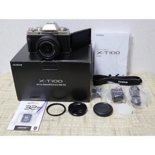 富士フイルム - FUJIFILM X-T100 レンズキット シャンパンゴールド