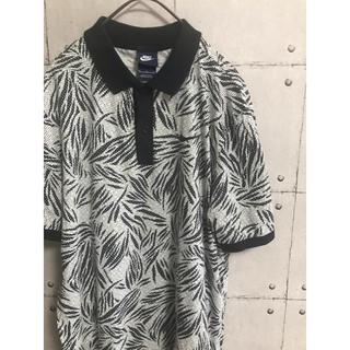 ナイキ(NIKE)のナイキ NIKE ポロシャツ 半袖 白 ネイビー ゴルフウェア ドット柄 リーフ(ポロシャツ)