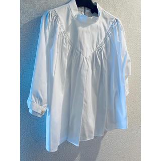Drawer - ◆美品◆drawer 白シャツ36 トップス  7分袖 Aライン