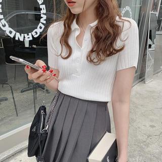 dholic - DEJOU 半袖ポロニット 韓国ファッション 新品