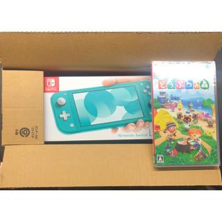 Nintendo Switch - 任天堂 スイッチライト ターコイズ どう森セット