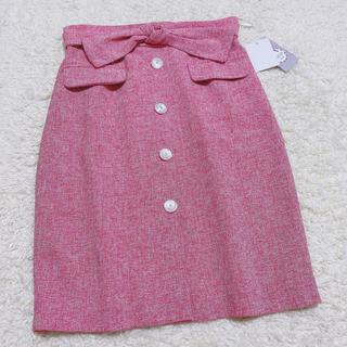 tocco - tocco ラブリーリボンツイードタイトスカート