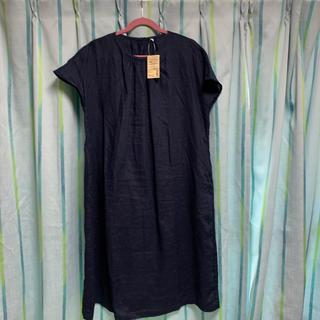 MUJI (無印良品) - 無印 フレンチリネン 洗いざらし 半袖ワンピース
