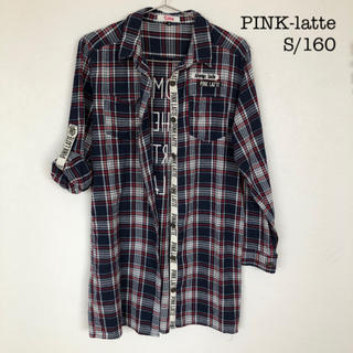 PINK-latte - PINK-latte  シャツワンピース サイズS/160  ピンクラテ