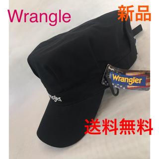 ラングラー(Wrangler)の⭐️wranglerツイルキャスケット‼️BLACK.ロゴ刺繍1点のみ(キャスケット)